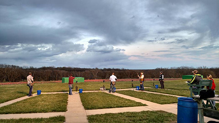 People Trapshooting